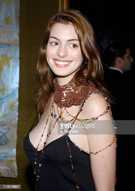 Anne Hathaway during 9th Annual National Arts Awards Party at Cipriani in New York City New York United States