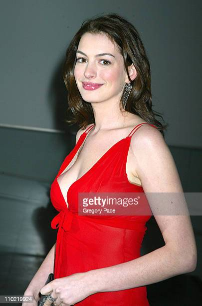 Anne Hathaway during 'A Work in Progress An Evening with Marc Forster' Arrivals and Inside at The Museum of Modern Art in New York City New York...