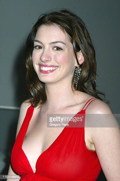 Anne Hathaway during A Work in Progress An Evening with Marc Forster Arrivals and Inside at The Museum of Modern Art in New York City New York United...