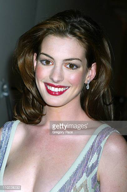 Anne Hathaway during amfAR and ACRIA Honor Herb Ritts with a Sale of Contemporary Artwork Inside Arrivals at Sothebys in New York City New York...