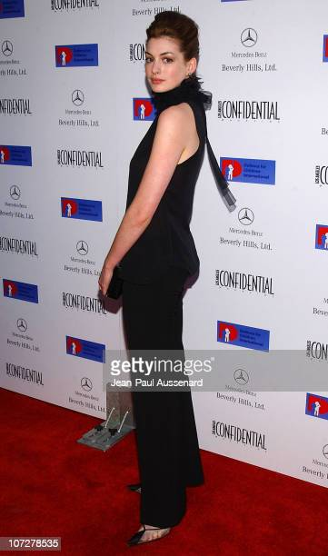 Anne Hathaway during Anne Hathaway Oliver Hudson and Anson Mount Host Fundraiser for Defense for Children International Hosted by LA Confidential at...