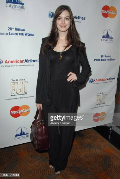 Anne Hathaway during CitymealsOnWheels 20th Annual Power Lunch for Women at The Rainbow Room in New York City New York United States