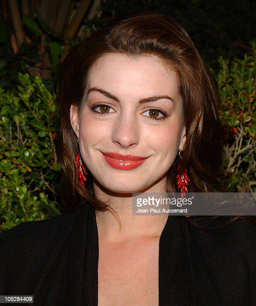 Anne Hathaway during Miramax Annual PreOscar Party Arrivals at St Regis Hotel in Century City California United States