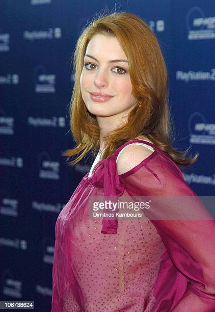 Anne Hathaway during Sony Playstation 2 Teams with Russell Simmons and the HipHop Summit Action Network to 'Race to the Polls' Arrivals at...