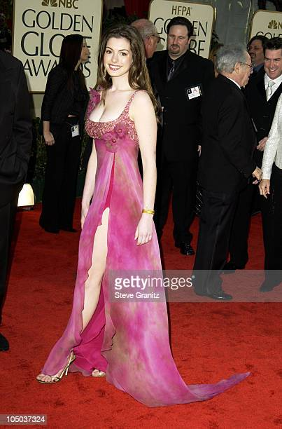 Anne Hathaway during The 60th Annual Golden Globe Awards Arrivals at The Beverly Hilton Hotel in Beverly Hills California United States