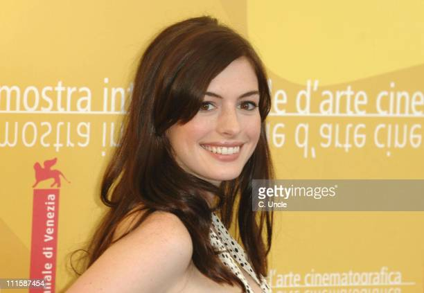 Anne Hathaway during The 63rd International Venice Film Festival The Devil Wears Prada Photocall in Venice Italy
