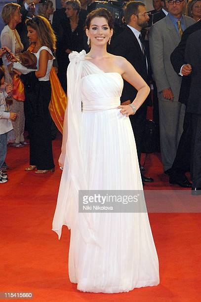 Anne Hathaway during The 63rd International Venice Film Festival 'The Devil Wears Prada' Arrivals at Veneto Italy in Venice Italy