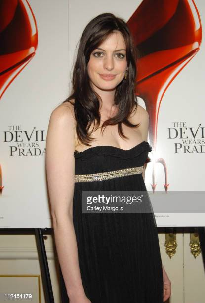 "Anne Hathaway during ""The Devil Wears Prada"" - A Dinner and Private Auction Hosted by the St. Regis Hotel - May 23, 2006 at St. Regis Hotel in New..."