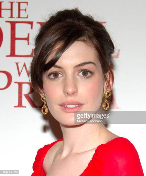 Anne Hathaway during The Devil Wears Prada New York Premiere Arrivals at AMC Loews Lincoln Square in New York City New York United States