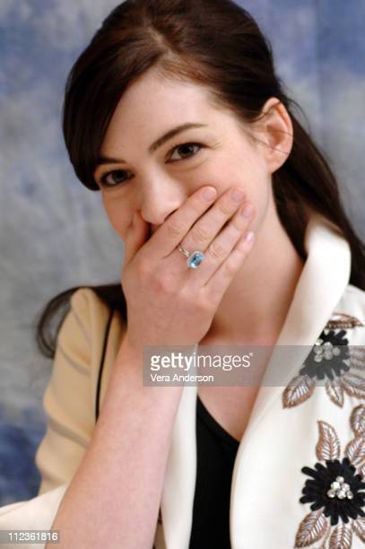 Anne Hathaway during 'The Devil Wears Prada' Press Conference with Meryl Streep Emily Blunt Anne Hathaway and Stanley Tucci at The Regency in New...