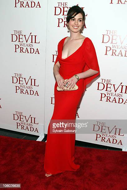 Anne Hathaway during Twentieth Century Fox Premiere of The Devil Wears Prada Arrivals at AMC Loews Lincoln Square at 1998 Broadway on 68th Street in...