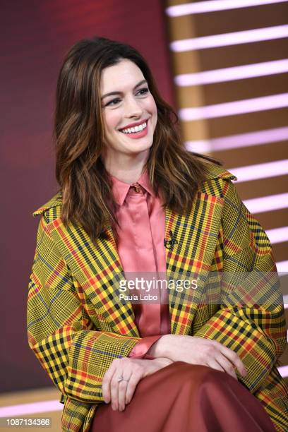 AMERICA Anne Hathaway is a guest on Good Morning America Wednesday Jan 23 airing on the Walt Disney Television via Getty Images Television Network...