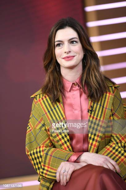 """Anne Hathaway is a guest on """"Good Morning America,"""" Wednesday, Jan. 23 airing on the Walt Disney Television via Getty Images Television Network...."""