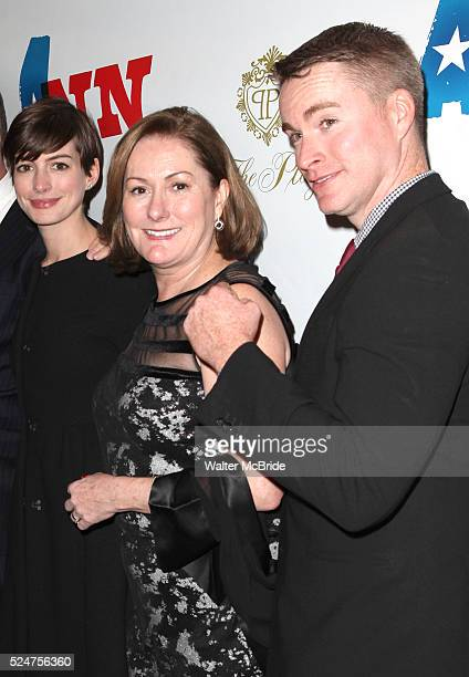 Anne Hathaway Kate McCauley Hathaway and Michael Hathaway attending the Opening Night Performance of 'Ann' starring Holland Taylor at the Vivian...