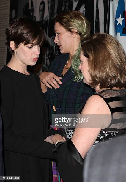 Anne Hathaway Kate McCauley Hathaway attending the Opening Night Performance of 'Ann' starring Holland Taylor at the Vivian Beaumont Theatre in New...