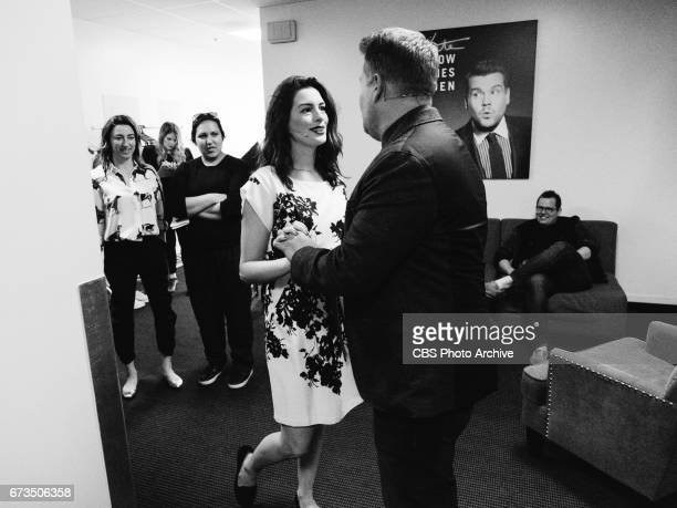 Anne Hathaway performs in Soundtrack to a RomCom with James Corden during 'The Late Late Show with James Corden' Thursday April 20 2017 On The CBS...