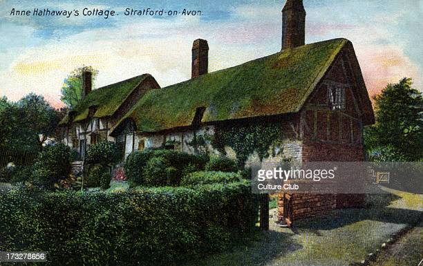 Anne Hathaway 's cottage in Stratford on Avon house where William Shakespeare visited his bride AH 1556 – August 6 1623 WS English poet and...