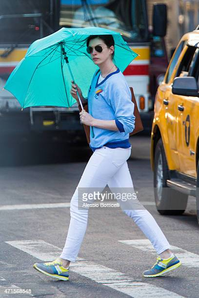 Anne Hathaway sighting in East Village on April 29 2015 in New York City
