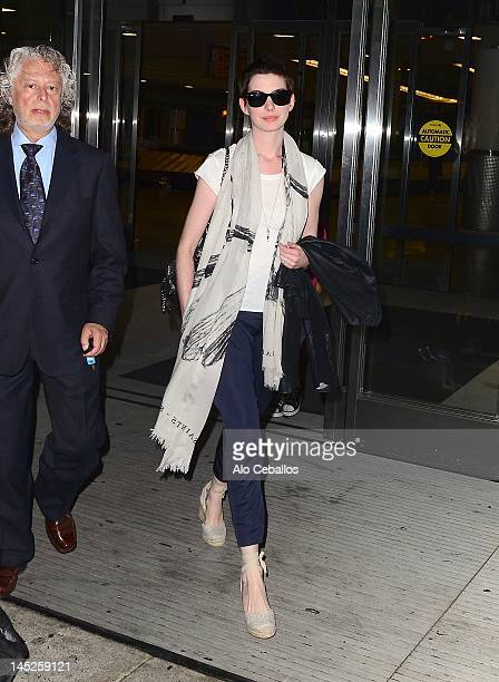 Anne Hathaway sighting on May 25 2012 in New York City