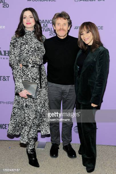 Anne Hathaway Willem Dafoe and Rosie Perez attend the Netflix The Last Thing He Wanted Premiere at Eccles Center Theatre on January 27 2020 in Park...
