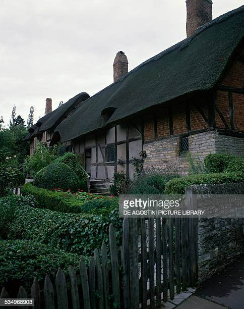 Anne Hathaway's Cottage the former home of Anne Hathaway William Shakespeare's wife Shottery StratforduponAvon England United Kingdom