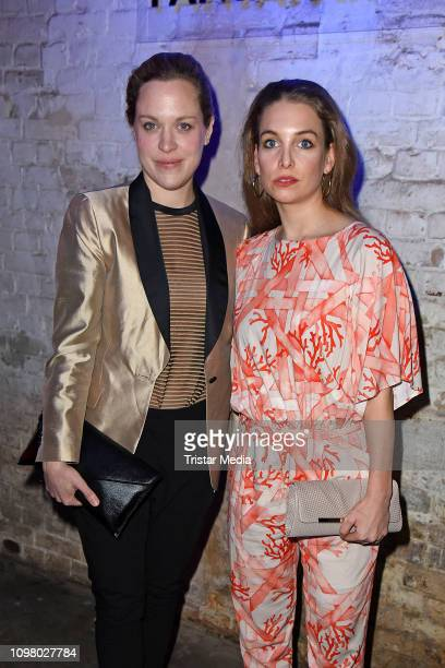 Anne Haug and Sina Martens attend the Pantaflix Pantaparty during 69th Berlinale International Film Festival at Alte Muenze on February 11 2019 in...