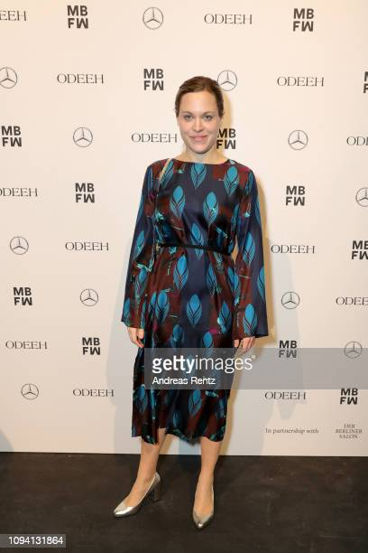 Anne Haug attends the Odeeh Defile during the Berlin Fashion Week Autumn/Winter 2019 at Haus Der Berliner Festspiele on January 14 2019 in Berlin...