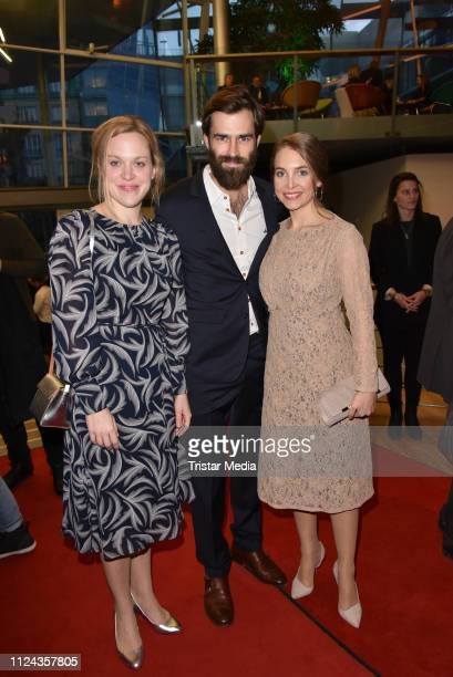 Anne Haug Moritz Vierboom and Sina Martens attend the ARTE reception during 69th Berlinale International Film Festival at on February 12 2019 in...