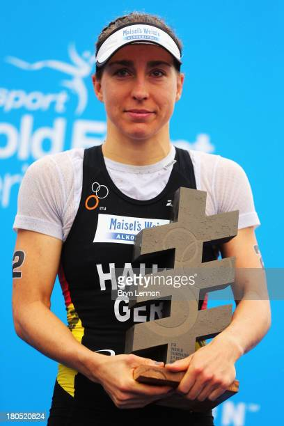Anne Haug of Germany finished 3rd in the ITU World Triathalon Series at Hyde Park on September 14 2013 in London England