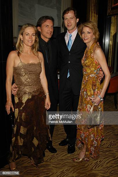 Anne Hearst Alex Matthiessen Charles Askegard and Candace Bushnell attend Printemps Variations Multiples Unveiling dinner hosted by Nicole Miller at...