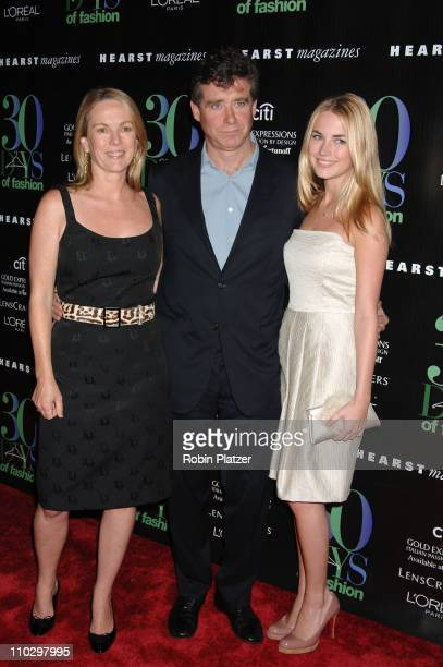 Anne Hearst and fiance Jay McInerney and daughter Amanda Hearst