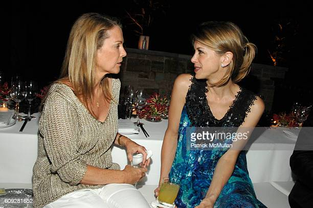 Anne Hearst and Sasha Lazard attend GUCCI Cristina Chris Cuomo and Stephanie and David Wolkoff's Midsummer Night's Dinner at The Ross School on July...