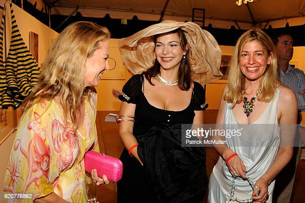 Anne Hearst Laura Harring and Alice Judelson attend The 15th Annual WATERMILL Summer Benefit at The Watermill Center on July 26 2008 in Watermill NY