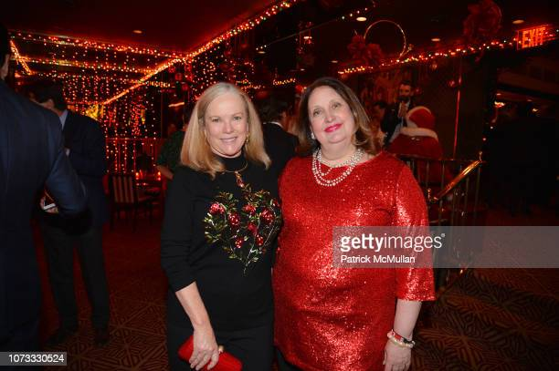 Anne Hearst McInerney and Alison Mazzola attend George Farias Anne Jay McInerney Host A Holiday Party at The Doubles Club on December 13 2018 in New...