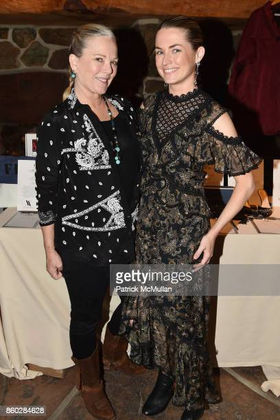 Anne Hearst McInerney and Amanda Hearst attend Hearst Castle Preservation Foundation Annual Benefit Weekend 'Hearst Ranch Patron Cowboy Cookout' at...