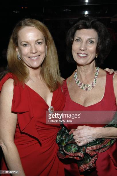 Anne Hearst McInerney and Pamela Fiori attend Alison Mazzolaís Birthday Party hosted by George Farias and Anne and Jay McInerney at Doubles on April...