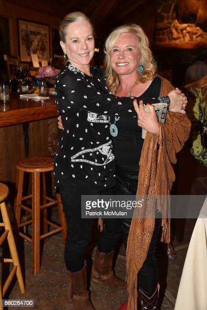 Anne Hearst McInerney and Sharon Bush attend Hearst Castle Preservation Foundation Annual Benefit Weekend Hearst Ranch Patron Cowboy Cookout at...