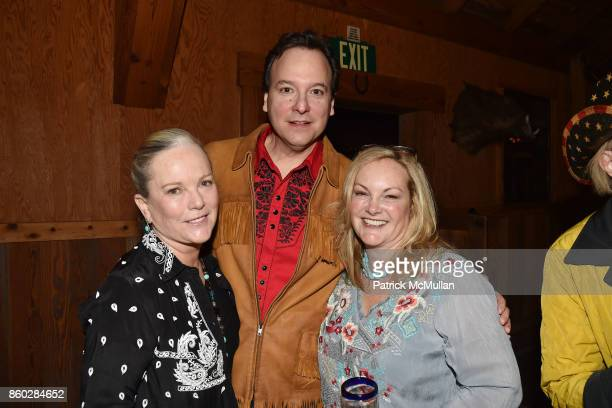 "Anne Hearst McInerney, George Farias and Patricia Hearst Shaw attend Hearst Castle Preservation Foundation Annual Benefit Weekend ""Hearst Ranch..."