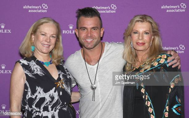 Anne Hearst musician Jay Allen and princess Yasmin Aga Khan attend the 35th Annual Alzheimer's Association Rita Hayworth Gala at Cipriani 42nd Street...
