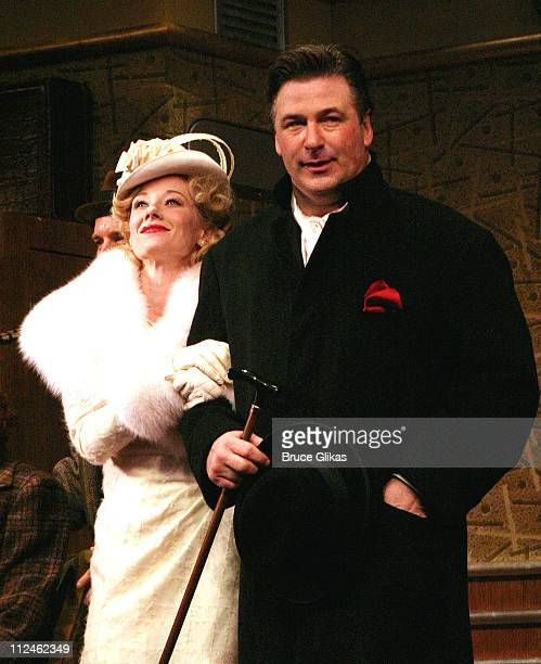 Anne Heche and Alec Baldwin Curtain Call during Opening Night of Twentieth Century on Broadway at The American Airlines Theater/ The China Club in...