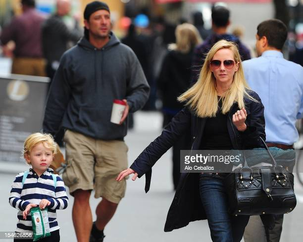 Anne Heche and Atlas Heche Tupper are seen in Soho on October 23 2012 in New York City