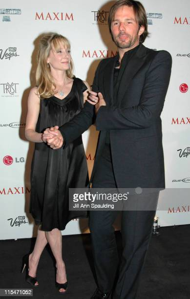 "Anne Heche and Coleman ""Coley"" Laffoon during Maxim Magazine 100th Birthday Celebration - Arrivals at Tryst at Wynn Las Vegas in Las Vegas, Nevada,..."