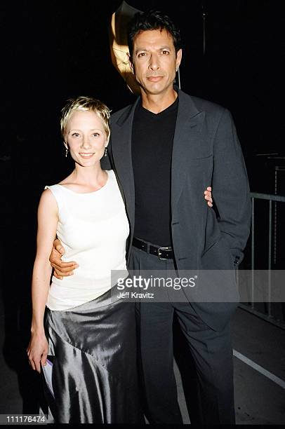 Anne Heche and Jeff Goldblum during 1998 MTV Movie Awards in Los Angeles California United States