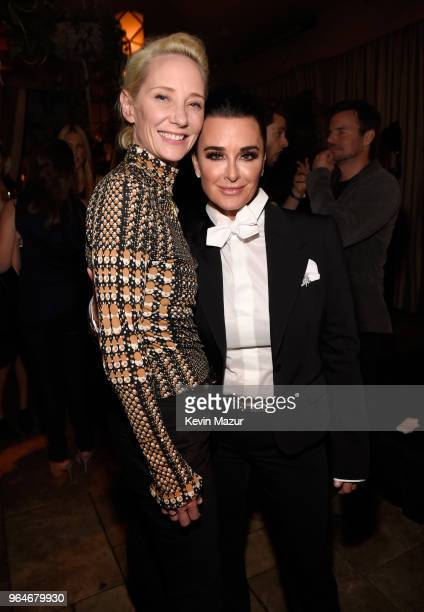 Anne Heche and Kyle Richards attend the American Woman premiere party at Chateau Marmont on May 31 2018 in Los Angeles California