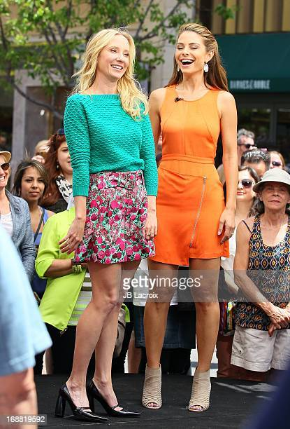 Anne Heche and Maria Menounos are seen at The Grove on May 15 2013 in Los Angeles California