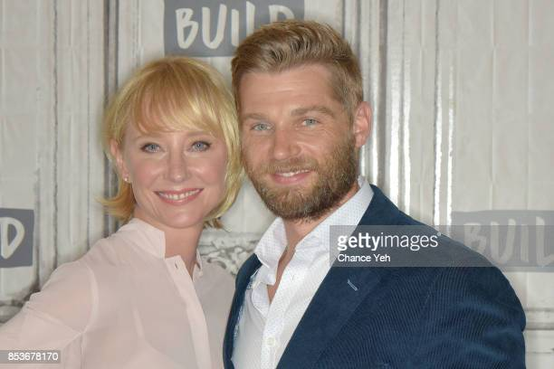 Anne Heche and Mike Vogel attend Build series to discuss their show 'The Brave' at Build Studio on September 25 2017 in New York City
