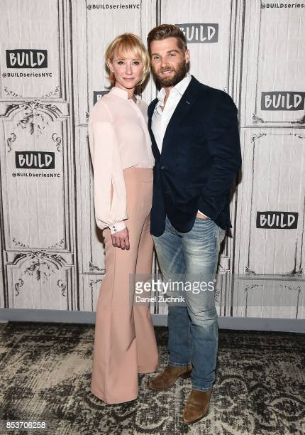 Anne Heche and Mike Vogel attend the Build Series to discuss the new show 'The Brave' at Build Studio on September 25 2017 in New York City