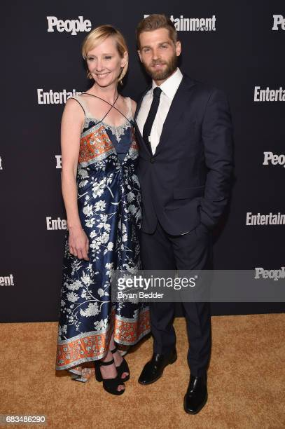 Anne Heche and Mike Vogel of For God And Country attend the Entertainment Weekly and PEOPLE Upfronts party presented by Netflix and Terra Chips at...