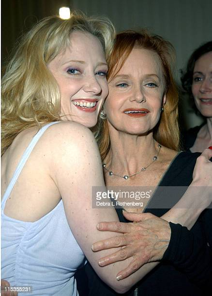Anne Heche and Swoosie Kurtz during The First Annual Show People Tony Awards Party at Gotham Hall in New York City New York United States