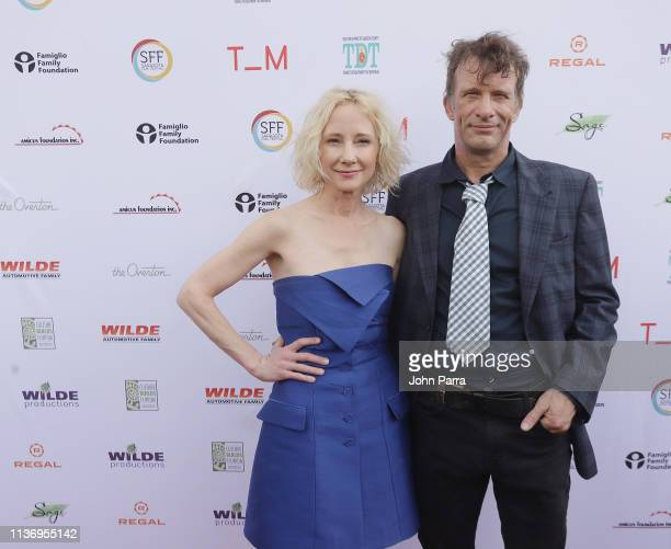 Anne Heche and Thomas Jane attend the 2019 Sarasota Film Festival on April 13 2019 in Sarasota Florida